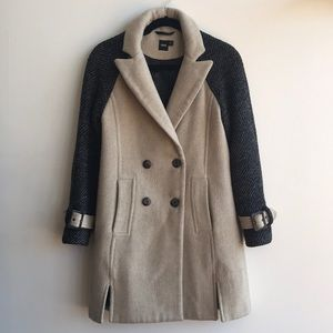 ASOS Double Breasted Color Block Coat